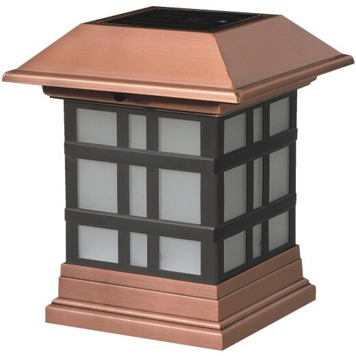Deckorators 4 In. x 4 In. Dynasty Copper Designer Solar Post Cap