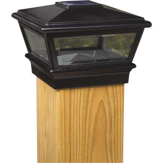 Deckorators Versacap 6 In. x 6 In. Black Solar Post Cap