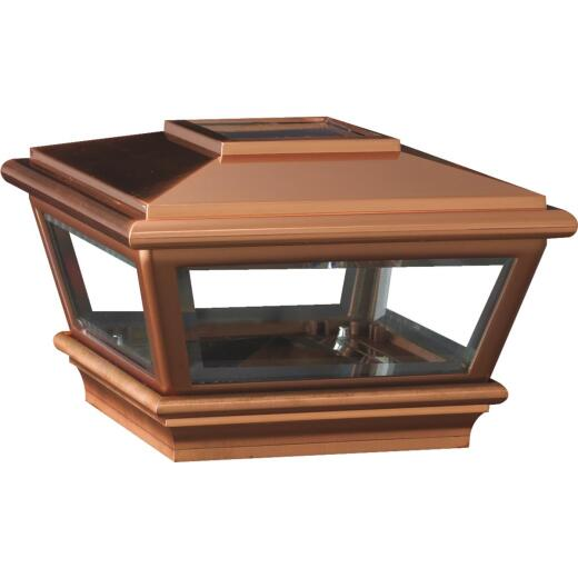 Deckorators Versacap 6 In. x 6 In. Copper Solar Post Cap
