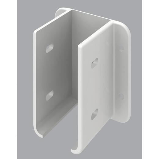 Outdoor Essentials 1-1/2 In. x 3 In. White Vinyl Fence Panel Mounting Kit (2-Pack)