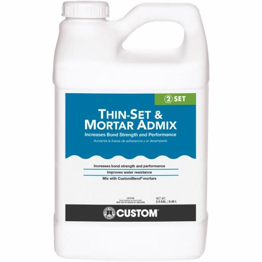 Custom 2-1/2 Gal. Thinset Mortar & Grout Additive