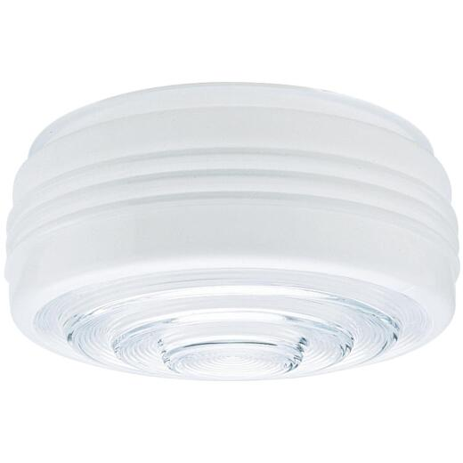 Westinghouse White & Clear 4-1/4 In. x 11 In. Drum Ceiling Shade