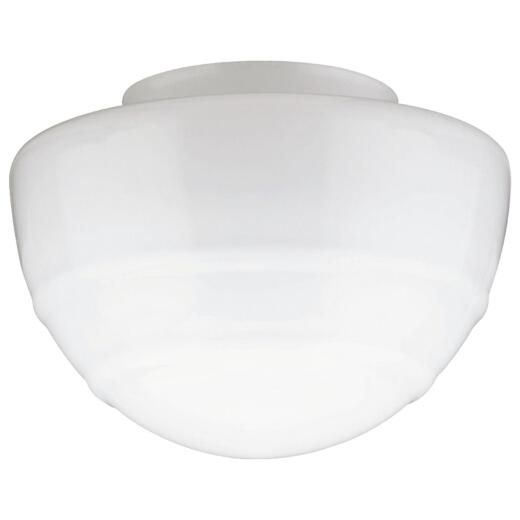 Westinghouse White 5 In. x 8 In. Mushroom Ceiling Shade with Ridged Design