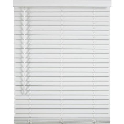 Home Impressions 23 In. x 64 In. x 2 In. White Faux Wood Cordless Blind