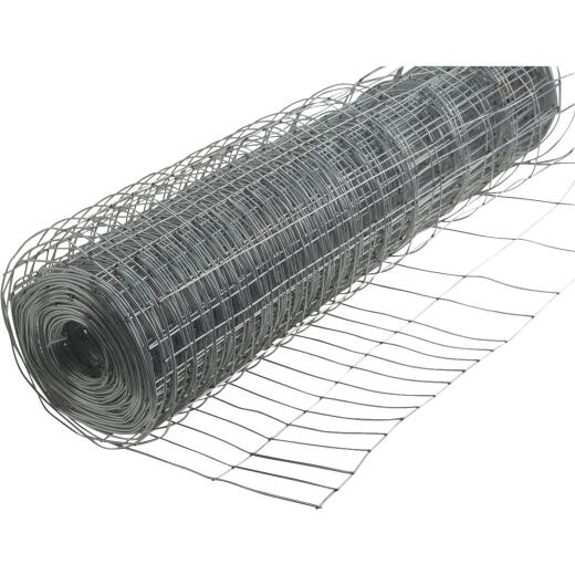 Rabbit Guard 40 In. H. x 50 Ft. L. Galvanized Wire Garden Fence, Silver