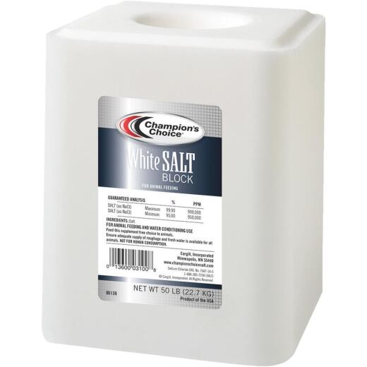 Champions Choice 50 Lb. Plain Salt Block