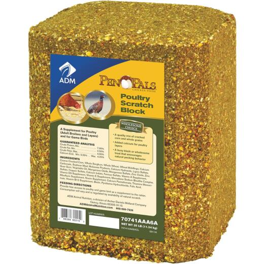 ADM Pen Pals 25 Lb. Poultry Scratch Block Chicken Feed