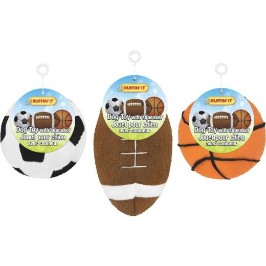 Westminster Pet Ruffin' it Assorted Plush Sports Ball Dog Toys