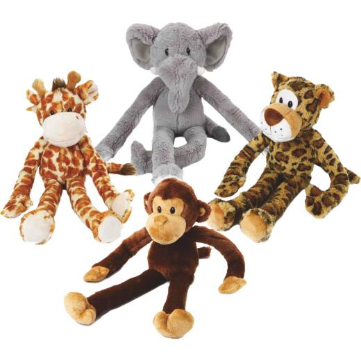 Multipet Swingin' Safari 19 In. Squeaky Plush Dog Toy