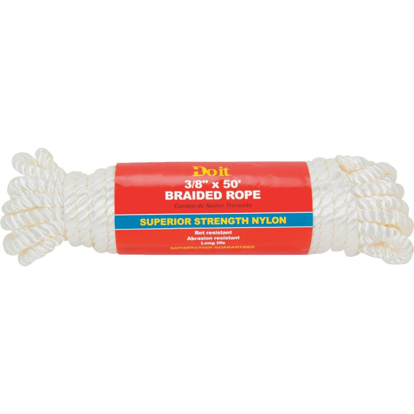 Do it 3/8 In. x 50 Ft. White Twisted Nylon Packaged Rope Image 2
