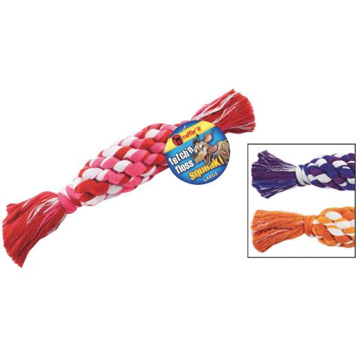 Westminster Pet Ruffin' it Fetch 'N Floss Squeaky Large Dog Toy