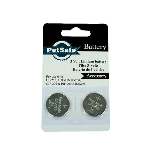 Petsafe 3V Dog Collar Replacement Lithium Battery (2-Pack)